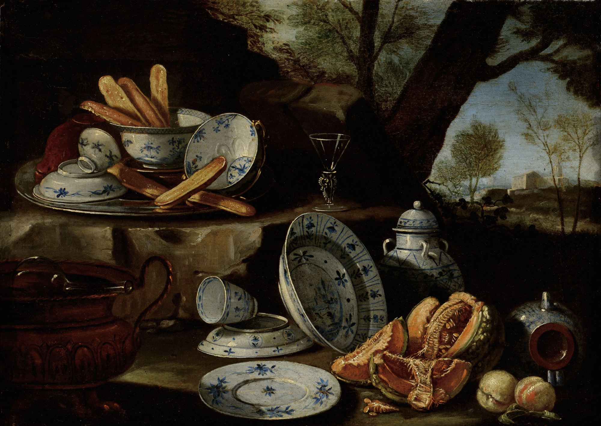 Still Life with Blue and White Porcelain